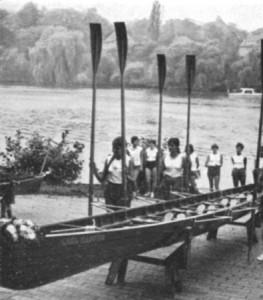 """Taufe des Mädchen-Vierers """"Carl Kappus"""", 1955"""