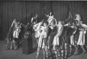 """1928 Theateraufführung von """"Aias"""" in griechischer Sprache"""