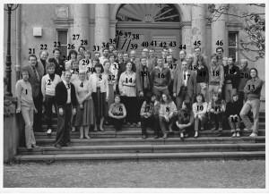 Das Lehrerkollegium des Arndt-Gymnasiums 1983